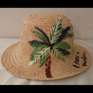 🌴Kate Spade Women's Cloche Raffia Sun Hat NWT🌴🏝
